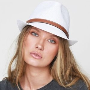 Classic Fedora with Faux Leather Belted Accent